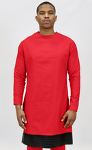 Load image into Gallery viewer, Red Rextan Shirt + Faux Black Croc Trim