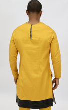 Load image into Gallery viewer, Mustard Yellow  Rextan Shirt + Faux Croc Trim
