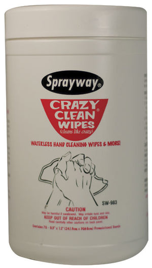 Sprayway Crazy Clean Wipes