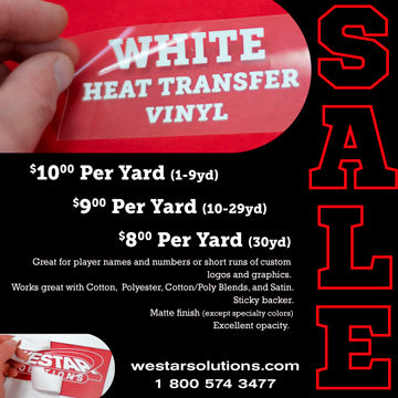 Heat Transfer Vinyl - White
