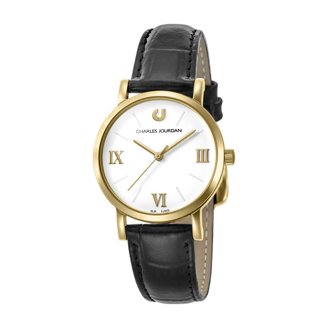 Ultra CJ1072-2213 Women Classic Quartz 32mm Leather