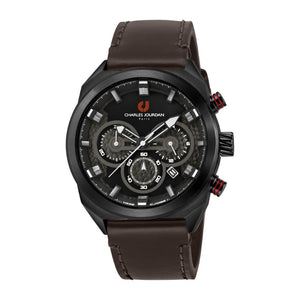Ludis CJ1082-1732C Men Sports Quartz 45mm Leather