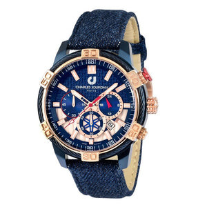Ludis CJ1091-1882C Men Chronograph 46mm Denim