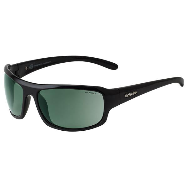 Dirty Dog Bubba Polished Black/Green Polarised Men's Sunglasses 53131