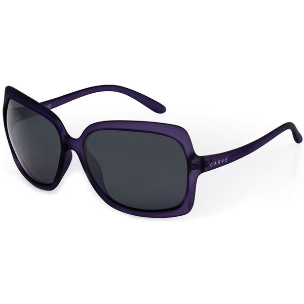 Carve Grace Matte Purple Transparent/Grey Polarised Women's Sunglasses