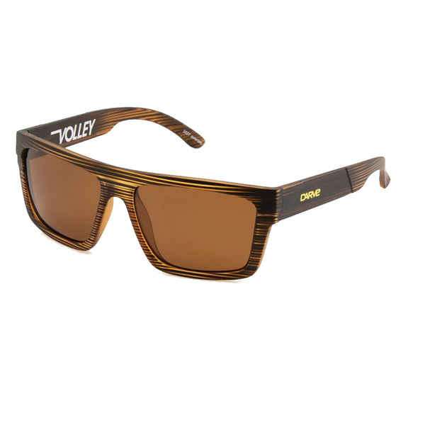Carve Volley Brown Streaks Brown Polarised Lens Sunglasses
