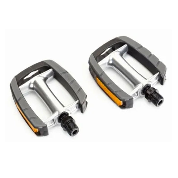 Bike Pedals, 9/16 With Non Slip Tread Alloy