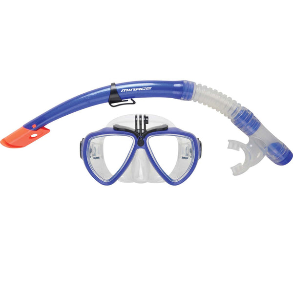 Mirage Camera Pro Mask & Snorkel ONLY Adult BLUE
