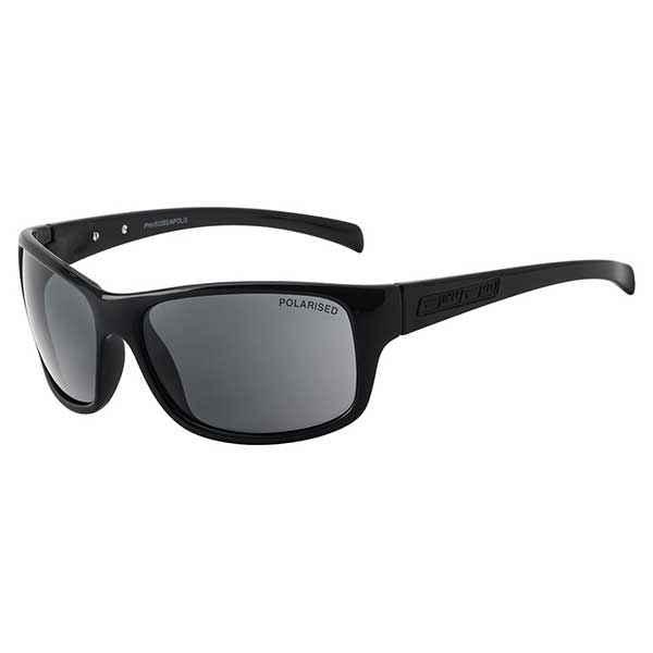 Dirty Dog Phin Shiny Black/Grey Polarised Men's Casual Sunglasses 53393