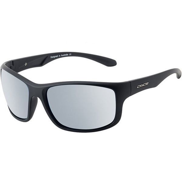Dirty Dog Splint Satin Black/Silver Mirror Polarised Men's Sunglasses 53548