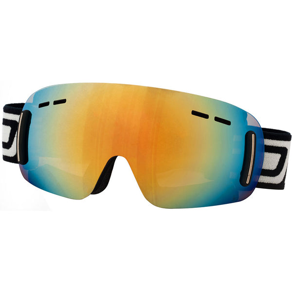 Dirty Dog Drift Frameless Snow Ski Goggles - Gold Mirror Lens