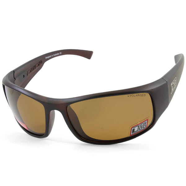 Dirty Dog Muzzle 53640 Satin Brown/Brown Polarised Men's Sport Sunglasses