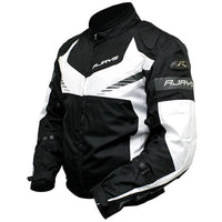 RJays Stinger Textile Motorcycle Jacket -Black White-2X-Large