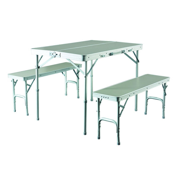 Caribee Table Chair Combo SILVER