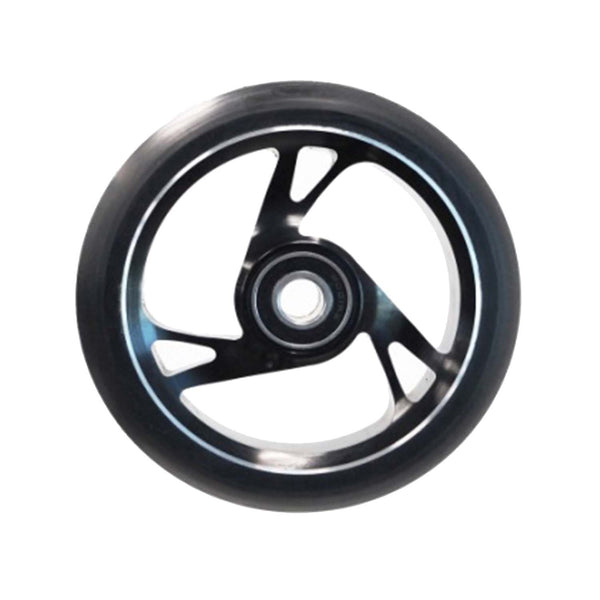 Scooter Wheel Alloy 125mm with Abec 9 Bearing BLACK