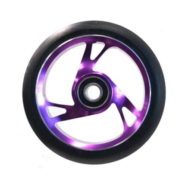 Scooter Wheel Alloy 125mm with Abec 9 Bearing PURPLE