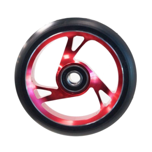 Scooter Wheel Alloy 125mm with Abec 9 Bearing RED