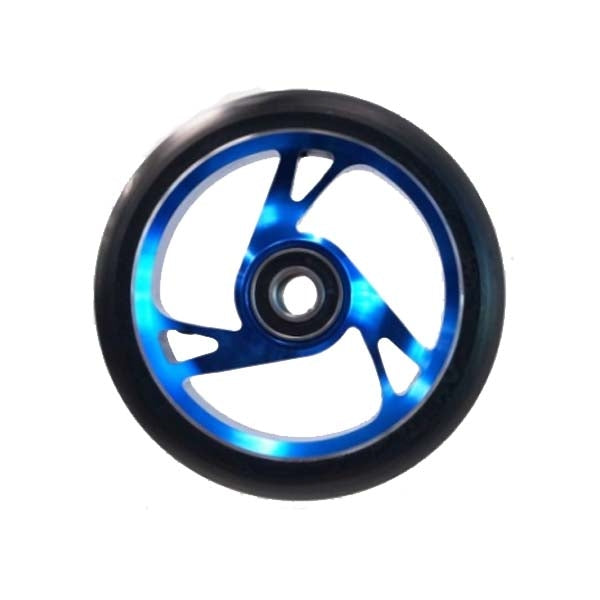 Scooter Wheel Alloy 125mm with Abec 9 Bearing BLUE