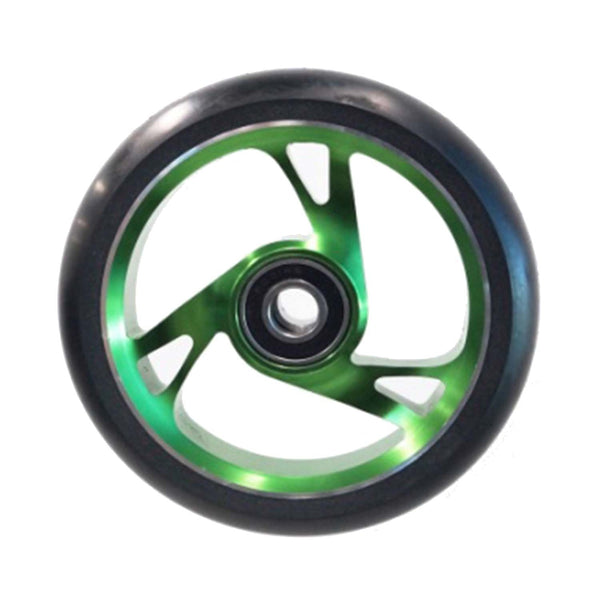 Scooter Wheel Alloy 125mm with Abec 9 Bearing GREEN