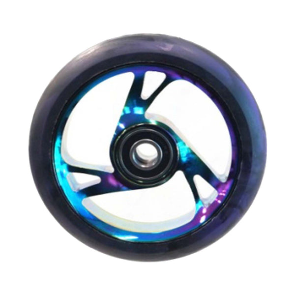 Scooter Wheel Alloy 125mm with Abec 9 Bearing METAL HEAT