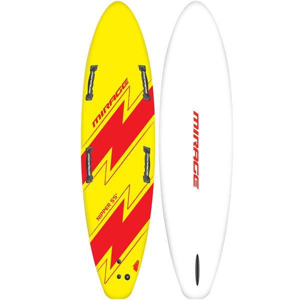 Mirage Nipper Kids Foam Surfboard 5.5 Yellow Red