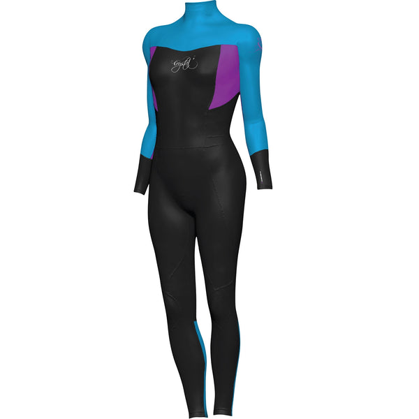 Crystal Girls Supertretch Wetsuit Long Sleeve Steamer BLUE 4
