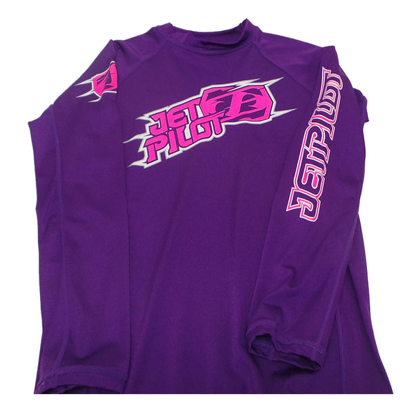 Jetpilot Corp Kids Long Sleeve Rashie PURPLE 14
