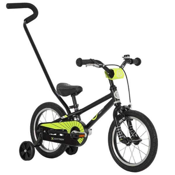 BYK E-250 Kids Bicycle Boys Bike BLACK NEON YELLOW
