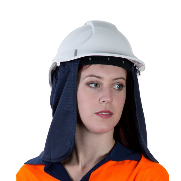 Uveto Micro Mesh Attach-A-Flap UV Neck and Ear Protection Navy NNSNV