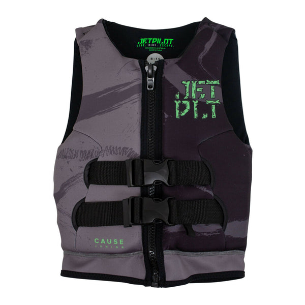 Jetpilot Cause Kid's and Youth Neo PFD Vest JA20211 Black/Charcoal Sizes 3-14