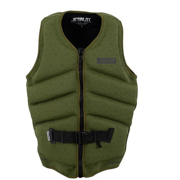 Jetpilot Freeride JA20228 F/E Men's Neo L50 PFD Vest Military Green Sizes S-3XL
