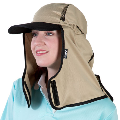Uveto Kalahari Micro Mesh UV Legionnaire Hat and Neck Shade - Camel