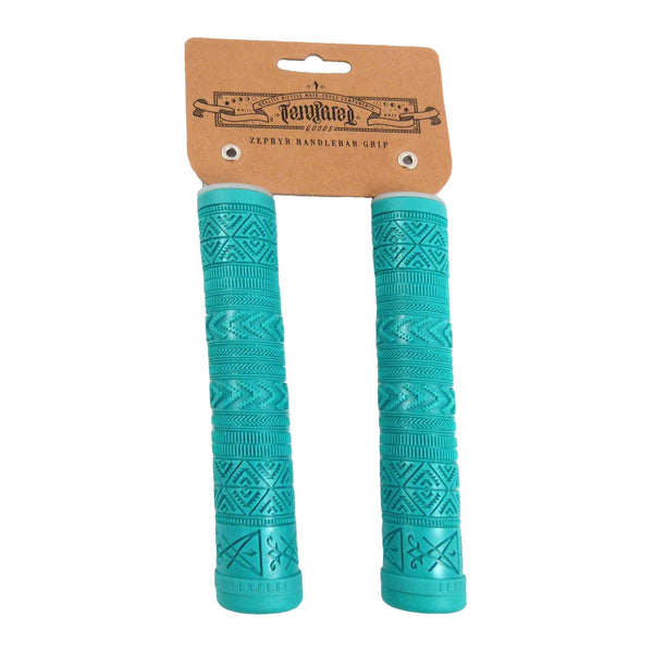 Tempered Zephyr Flangeless BMX Scooter Bike Grips Includes Bar Ends