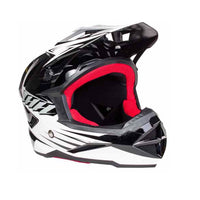 THH T-42 #2 ADULT Motorbike Race Helmet BLACK WHITE
