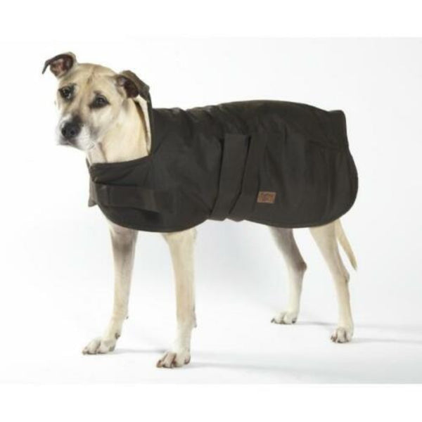 Burke & Wills Oilskin Sherpa Lined Dog Coat Size 75cm