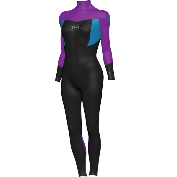 Crystal Girls Supertretch Wetsuit Long Sleeve Steamer PURPLE 4
