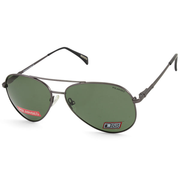 Dirty Dog Maverick 53478 Satin Gunmetal/Green Polarised Men's Sunglasses