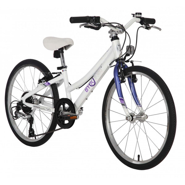 BYK E-450X8 Geared Kids Bike Bicycle STEEL PURPLE