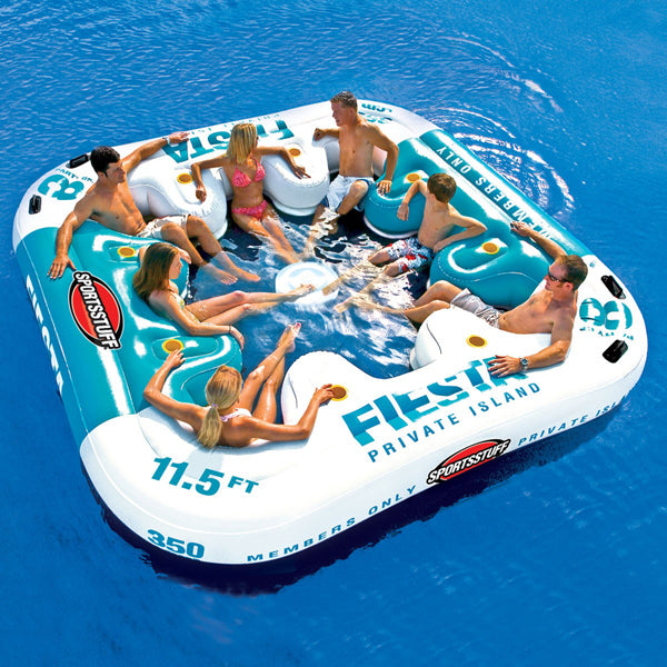 Sports Stuff Fiesta Island Inflatable Floating Lounge for 8 people