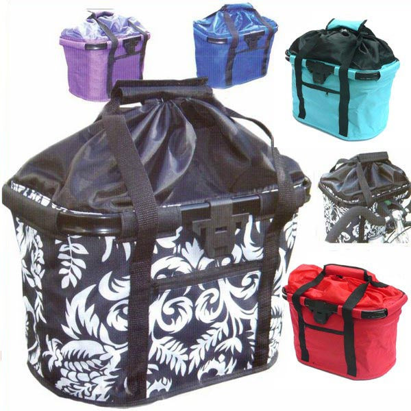 Fabric Front Bike Basket With Lid