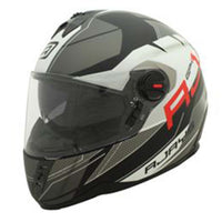 RJays GP4 Twin Shield System Pilot Motorcycle Helmet MATT BLACK WHITE TITANIUM GREY