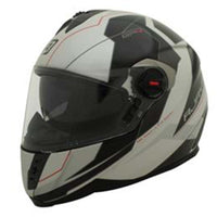 RJays GP4 Twin Shield System Racer Motorcycle Helmet GLOSS PEARL WHITE BLACK RED