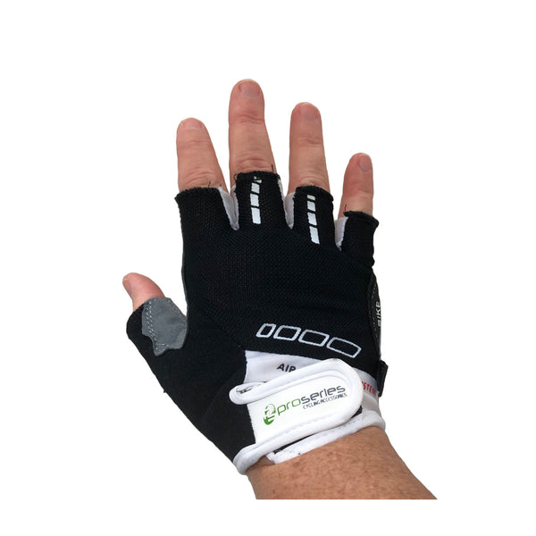 Pro Series Padded Gel Bicycle Gloves with Finger Tabs and Easy-off Sizes S-XL