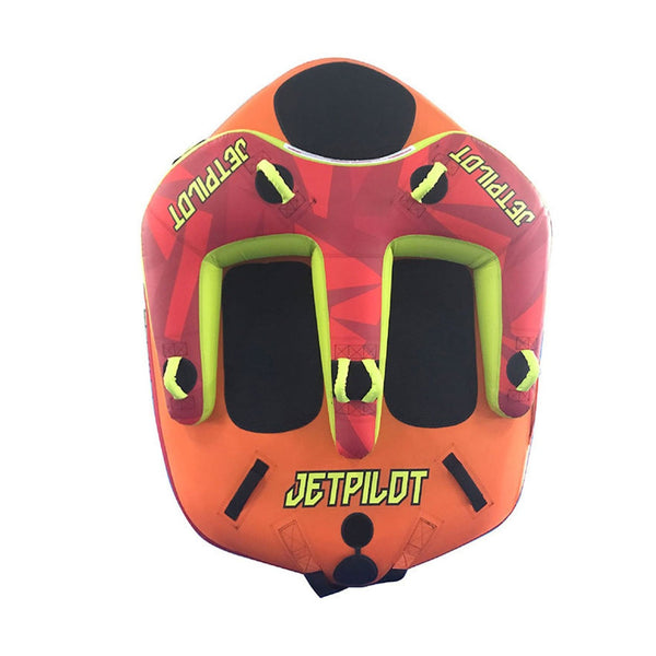"Jetpilot Freeride 3 Person Towable Ski Tube 76""x 69"" with POV Camera Mount"