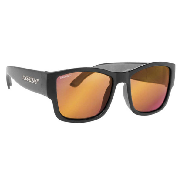 Jetpilot Addiction Matte Black/Red Mirror Polarised Floating Sunglasses JA7414