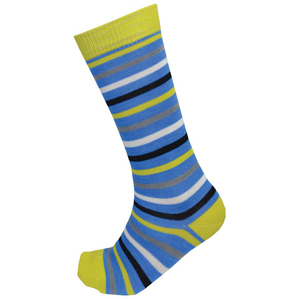 XTM Stripey Merino Profit Kids Snow Socks-Citron-Kids 9 - 12