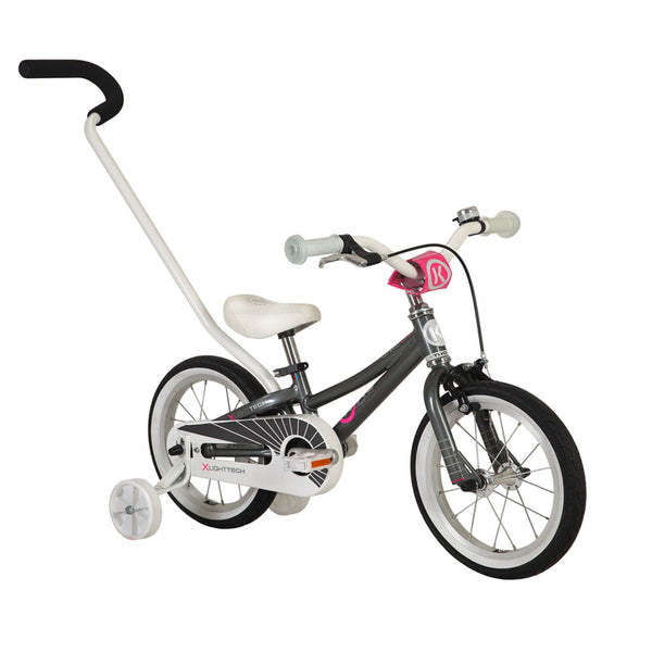 ByK E-250 Bike Girls Kids Bicycle - CHARCOAL NEON PINK