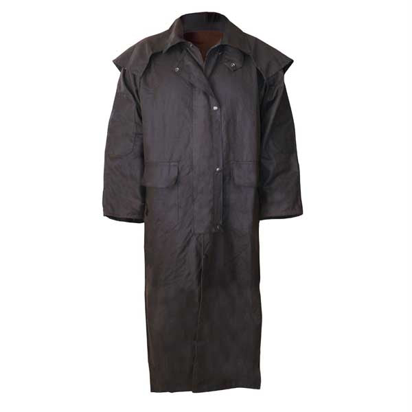 Stockman Full Length Oilskin Jacket Size XS-4XL