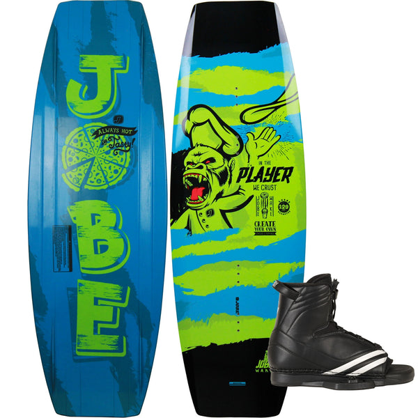 Jobe Player Junior Boys Wakeboard with Vector Boots Size 1-4 Package 129cm