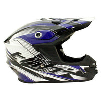 THH TX-15 Kids Race Helmet BLACK/BLUE
